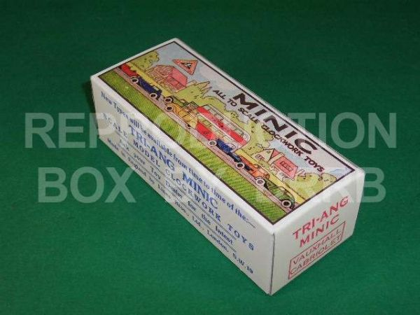 Minic #19M Vauxhall Cabriolet - Reproduction Box